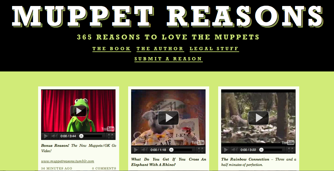Announcing 'Muppet Reasons' |